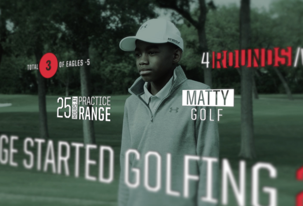 Jordan Spieth and Under Armour NEXT Generation Featuring Full Swing