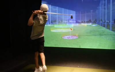Family Uses Full Swing Golf Simulator for Game Improvement and Fun Activities