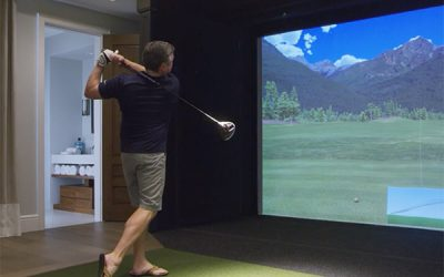 Irvine, California Home Featuring the Full Swing Golf Simulator